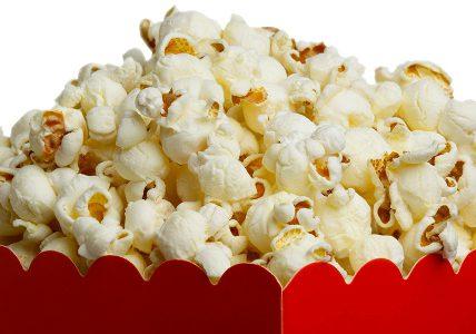 Vers gebakken Popcorn
