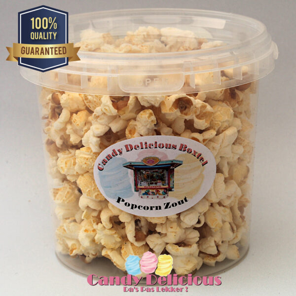 8720256361350 Candy Delicious Popcorn Zout 1 Liter