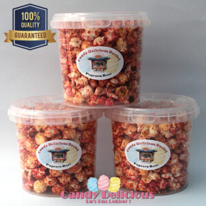 8720256361138 Candy Delicious Popcorn Roze 1 Liter
