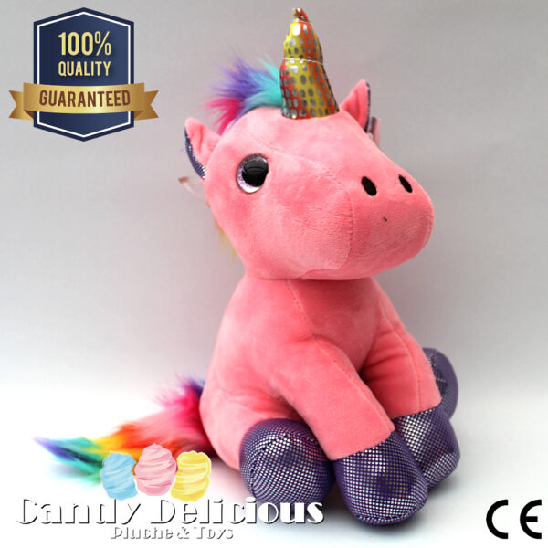 8720256361534 Unicorn Pluche Roze
