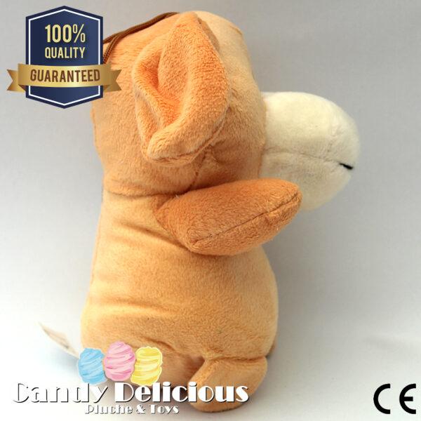 Pluche Hond Bruin 16cm