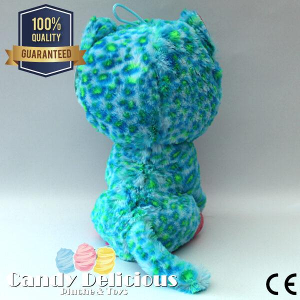 Kat Pluche Groen Blauw 20cm