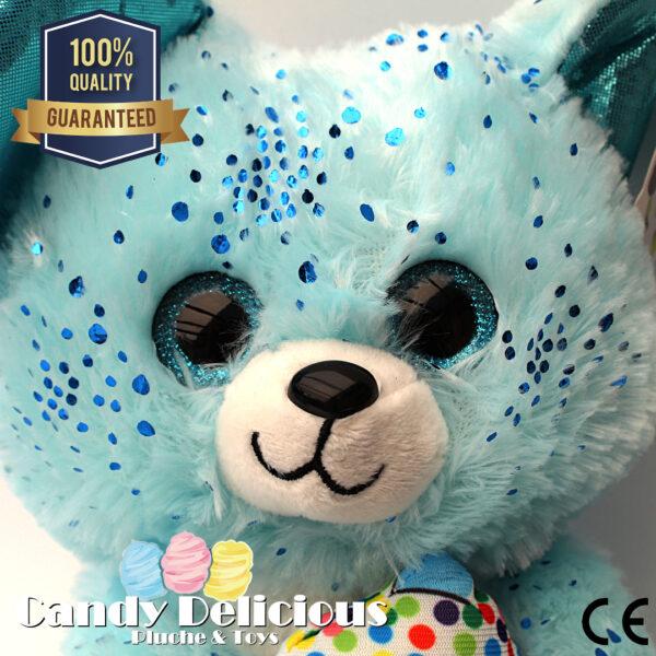 8720256361251 Muis Pluche Blauw Glitter