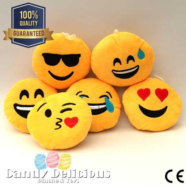 Pluche Emoticons Set 6 Stuks
