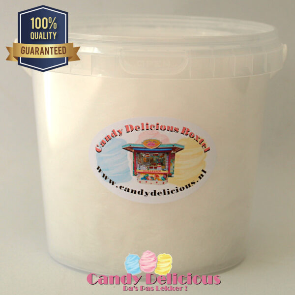 8720256361794 Candy Delicious Suikerspin Wit 1 liter