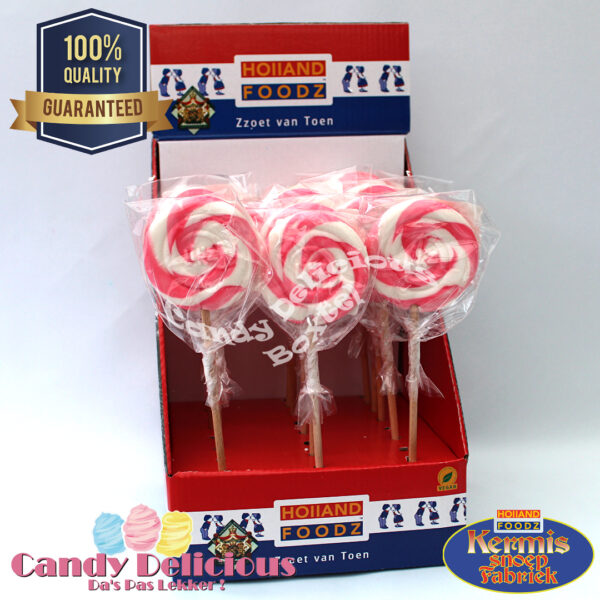 8711601996921 Spiraal Lolly Roze Wit