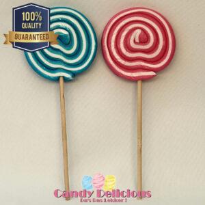 Spiraal Roze Blauw Lolly 2 Stuks