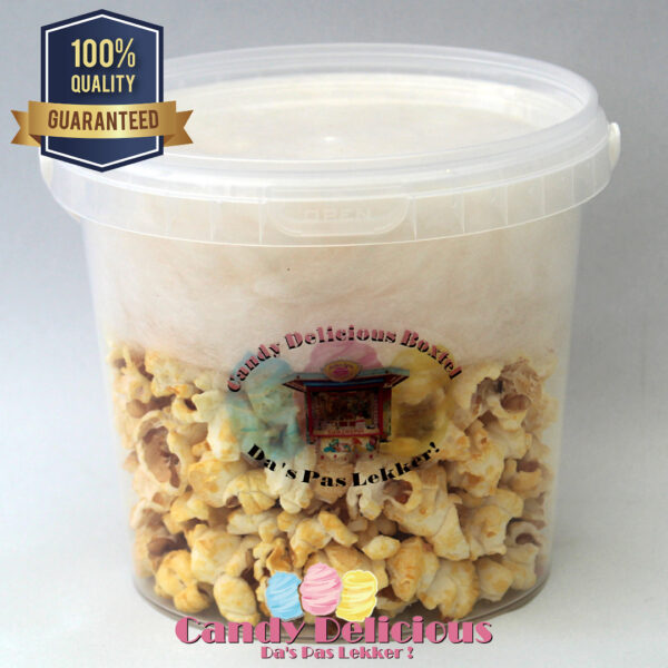 Candy Delicious Popcorn Zoet Suikerspin Wit 1 Liter