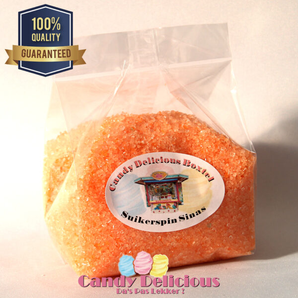 Candy Delicious Suikerspin Suiker Oranje 500gr