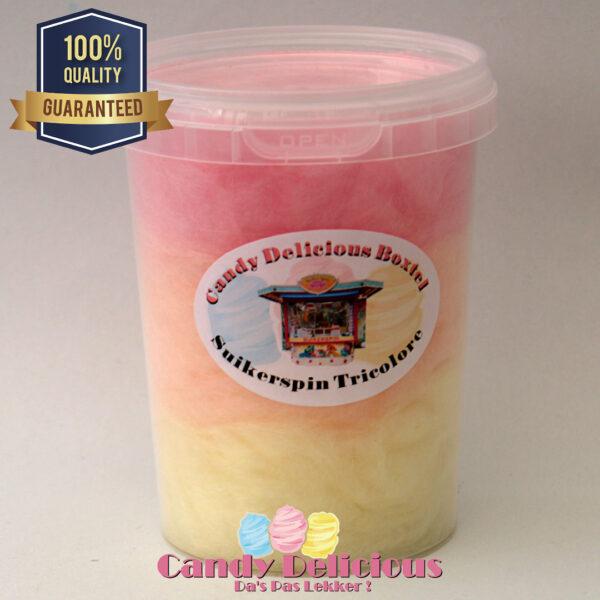 Suikerspin Trocolore Geel Oranje Roze