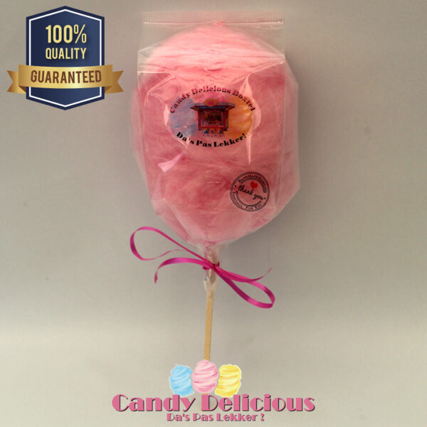 Candy Delicious Suikerspin op Stok Roze