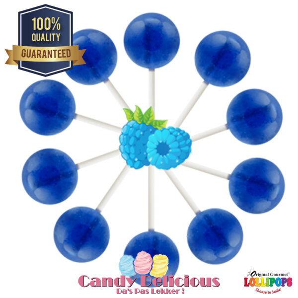 Gourmet Lollipops Blue Raspberry 6549541222372