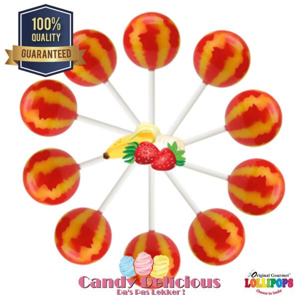 Gourmet Lollipops Strawberry Banana 6549541222372